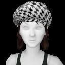 Avatar Black and White Bunny Print Newsboy Hat