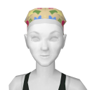 Avatar Yellow Pattern Scrubs Hair Cover