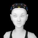Avatar Black Pattern Scrubs Hair Cover