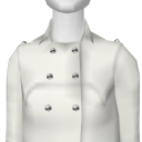 Avatar White Solid Brushed Cotton Coat