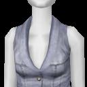Avatar White Leather Vest