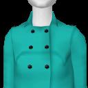 Avatar AquaMarine Solid Brushed Cotton Coat