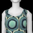 Avatar Aqua Vertigo Sleeveless A-Line Dress