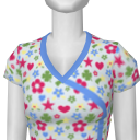 Avatar White Pattern Medical Scrubs Shirt