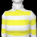 Avatar Yellow Striped Turtleneck