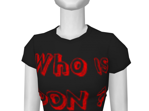 "Avatar ""Who is Don?"" T shirt"