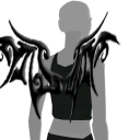 Avatar Black Tribal Wings