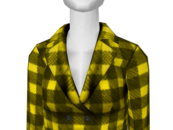 Avatar Yellow Buffalo Plaid Coat