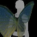 Avatar Green yellow butterfly wings