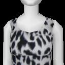 Avatar White Leopard Dress