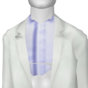 Avatar White Suit Jacket with Blue Checkered Shirt