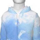 Avatar [Notch] Red Dot Sky Print Hoodie