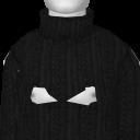 Avatar Black Cable Turtleneck Sweater