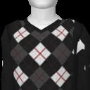 Avatar Black Argyle Vneck Sweater