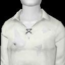 Avatar White Print Victorian Shirt