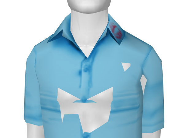 Avatar Work Shirt With Lipstick On Collar