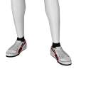 Avatar White n Red Trainers