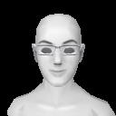 Avatar White Plastic Square Glasses