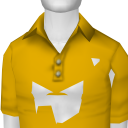 Avatar Yellow Solid Shortsleeve Polo