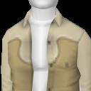 Avatar Beige Loose Cowboy Shirt