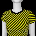 Avatar Yellow & black stripe warning tee