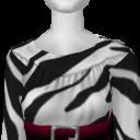 Avatar Zebra print a-line dress with red belt