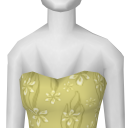 Avatar Yellow ribbon brides maid dress