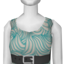 Avatar 70s gray belted tank dress