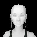 Avatar Long diamond earrings