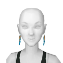 Avatar Cute feather earrings
