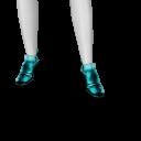 Avatar Aqua metallic ankle booties