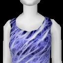 Avatar (streetwear) electric blue dress.