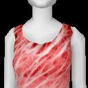 Avatar (streetwear) electric red dress.