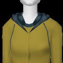 Avatar Yellow & teal plaid hoodie