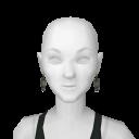 Avatar Black crown earrings