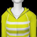 Avatar Yellow striped hoodie