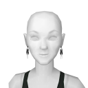Avatar Black ribbon earrings