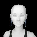 Avatar Black & blue gem earrings