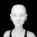 Avatar Mint rose earrings