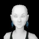 Avatar Blue leopard circle earrings