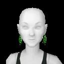 Avatar Lime leopard earrings