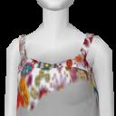 Avatar Boho floral bikini shorts