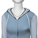 Avatar Periwinkle and gray plaid bonfire hoodie