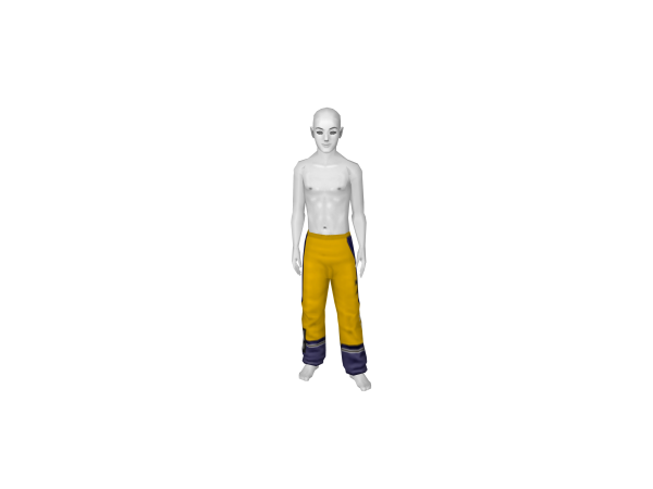 Avatar Yellow Blue Track Pants