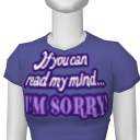 "Avatar ""if you can read my mind...i'm sorry!"" (word art design)"