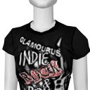 Avatar Glamourus indie rock & roll t-shirt