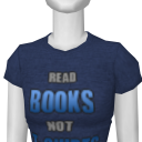 Avatar Read books not t-shirts (word art design)
