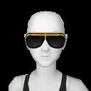 Avatar Funky black with golden stripe sunglasses
