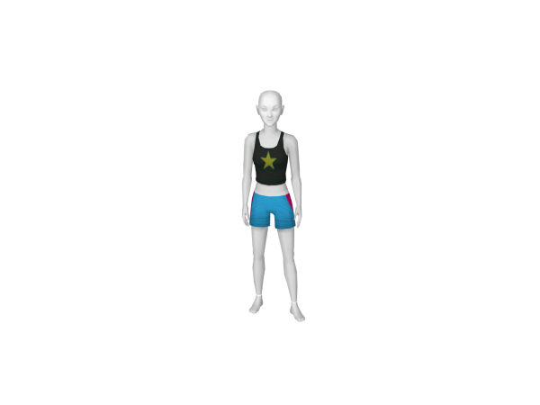 Avatar 80s outfit shorts