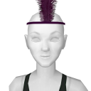 Avatar 1920's flapper feather headband spooky purple